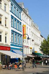Gründerzeitfassaden, Geschäfte Grosse Bergstrasse, Altona Altstadt.