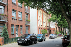 Historische Architektur Hamburg Lohbrügges - mehrstöckige Wohnblocks im Gründerzeitstil.