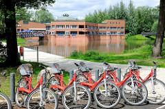 Fahrradverleih beim Bürgerhaus Wilhelmsburg.