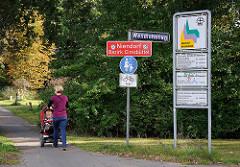 Grenzschild Stadtteil Niendorf, Bezirk Eimsbüttel.