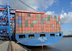 Containerfrachter HYUNDAI FORCE am HHLA Container Terminal Altenwerder Hambuger Hafen