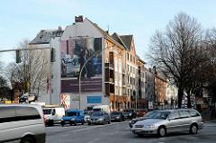 Bilder aus Hamburg Altona-Nord Stresemannstrasse, Stassenverkehr Wohnblocks an der Strasse
