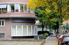 Runde Stirnseiten / Franck'sche Wohnblock in Hamburg Dulsberg - Fotos aus den Stadtteilen.