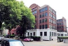 Industriearchitektur in der Jarrestadt - ehem. Fabrikgebäude in Hamburg Winterhude.