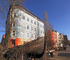 Häuser der Hamburger Hafenstrasse - Bilder aus HH-St. Pauli.