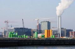 Der Baugrund des ehemaligen HEW-Werks am Magdeburger Hafen wird saniert - der verseuchte Boden wird ausgebaggert und gereinigt. (2007)