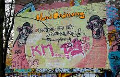 Graffiti Fassade WalddoerferGymnasium