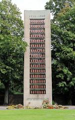 Mahnmal für die Opfer nationalsozialstischer Verfolgung auf dem Hamburger Friedhof Ohlsdorf.