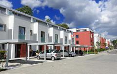 Neubauten mit Carport - Husarenhof, Hamburg Marienthal.