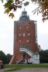 Historischer Wehrturm auf der Hamburger Insel Neuwerk - Hamburger Touristenattrakionen - Ausflugsziele für das Wochenende.
