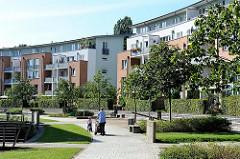 Neubaugebiet Trabrennbahn Farmsen - Grünanlagen.