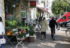Einzelhandelsgeschäfte in der Bismarckstrasse - Wohnqualität in Hoheluft-West.