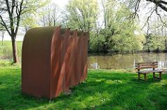 Denkmal Sturmflut 1962 - Hohenwischer Brack in Hamburg-Francop.