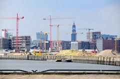 Baustelle am Versmannkai des Baakenhafens - Gebäude der Hafencity; Fotos aus den Hamburger Stadtteilen.