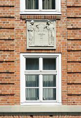Fassadendekor Altonaer Spar- und Bauverein - Hamburg Bahrenfeld - Architekturgeschichte in Hamburg.