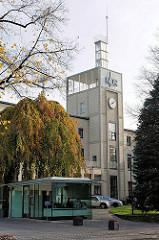 Eingang NDR, Norddeutscher Rundfunk an der Rothenbaumchaussee in Hamburg Harvestehude.