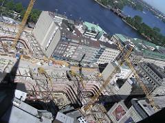 Baustelle des Europapassage in der Hermannstrasse / Ballindamm (2004)