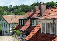 Dächer im Treppenviertel von Hamburg Blankenese - Wohnen in Hamburg - Fotos aus den Stadtteilen der Hansestadt.