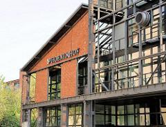Historisches Fabrikgebäude im Hamburger Stadtteil Ottensen - Phönixhof, ehemalige Ottensener Maschinenfabrik, gegründet 1880.