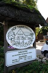 Hofladen - Hof Timmermann - Lebensmittel aus kontrolliert biologischem Anbau.