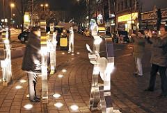 Denkmal für die Beatles - Beatle-Platz HH-St. Pauli; Skulpturen aus Edelstahl.
