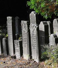Grabsteine auf dem Jüdischen Friedhof Stadtteil Hamburg Ohlsdorf
