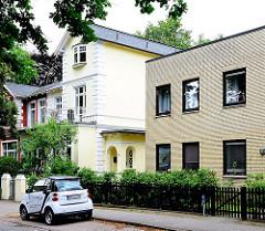 Architektur in Hamburg Lokstedt - Wohnhäuser im Stadtteil.