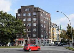 Klinkergebäude beim Hofweg in Hamburg Uhlenhorst, Bezirk HH-Nord; Architektur der 1920er Jahre - Neues Wohnen in Hamburg.