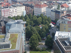 Luftaufnahme vom Grossneumarkt - Zentraler Platz in der Hamburger Neustadt.