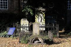 Bilder aus Hamburg Ottensen - Grab Friedrich Gottlieb Klopstock - Hamburger Christianskirche.