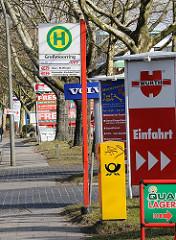 HVV Bushaltestelle Grossmoorring - Gewerbegebiet Hamburg Neuland.