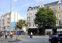 Baulücke am Eppendorfer Marktplatz - der ehem. Sparmarkt / Edekamarkt ist abgerissen, der Neubau beginnt. Bilder aus dem Stadtteil Hamburg Eppendorf.