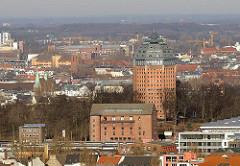 Luftaufnahme vom Wasserturm Sternschanze Umbau zum Luxus-Hotel im Hamburger Stadtteil Sternschanze.
