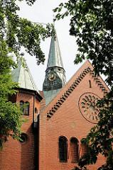 Ev. Lth. Lutherkirche -  1906 errichtet - Architekt Karl Mohrmann; erster Kirchenbau in Hamburg Eißendorf.