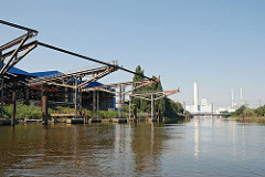 Ladeanlagen, Kaianlagen im Moofleeter Kanal - Kraftwerk Tiefstack.