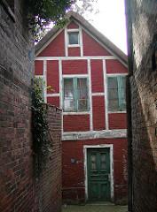 Fachwerkhaus - Wohnhaus - Fischerdorf Finkenwerder.  Wohngebäude.