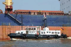 Das Lotsenschiff LOTSE 2 hat eine Länge von 23m und eine maximale Geschwindigkeit von fast 15 kt.