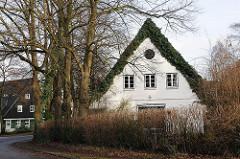 Bilder aus Hamburg Othmarschen - ländliche Bebauung an der Ansorgestrasse.