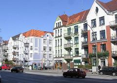 Wolfgang Borchert Geburtshaus - Hamburg Eppendorf; Tarpenbekstrasse - Wohnblocks.