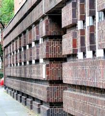 Backsteinfassade in der Stammannstrasse, Jarrestadt - Architekturbilder aus Hamburg Winterhude.