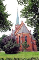 Erlöserkirche in Hamburg Lohbrügge - 1899 erbaut, Architekt Hugo Grothoff.