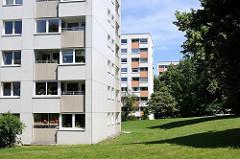 Hochhäuser in Hamburg Wilstorf - Bilder aus den Hamburger Stadtteilen und Bezirken.