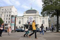 Deutsches Schauspielhaus; erbaut im neobarocken Stil 1900; Wiener Architektenbüro Fellner & Helmer.