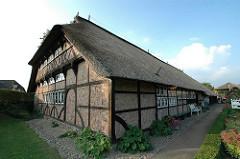 Hauptgebäude Rieckhaus - Fachwerkarchitektur erbaut 1533.