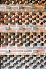 Gemauerte Ziegelsteine - Bilder aus dem Hamburger Stadtteil Barmbek Nord.