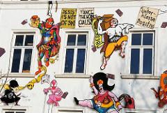 Wandmalerei Hamburg St. Pauli Hafenstrasse.