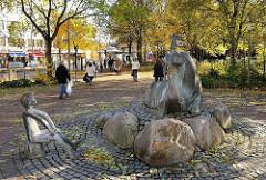 Walross Antje - Brunnen vor dem Alstertaler Einkaufszentrum AEZ - Bildhauer Friedrich Müller-Belecke