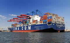 Contaierschiff CALLISTO Containerhafen Hamburg HHLA Terminal Burchardkai