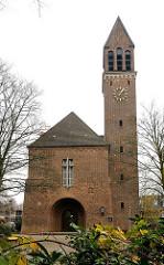Volksdorfer Kirche am Rockhof - Baujahr 1952, Architekt Walter Ahrendt.