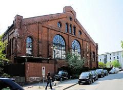 Historische Architektur des Gaswerks Hamburg Bahrenfeld - Kohlenhalle Nord, umgebaut zum Designerhotel.